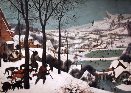 Bruegel the Elder, Pieter: Hunters in the Snow. Fine Art Print/Poster. Sizes: A4/A3/A2/A1 (00235)